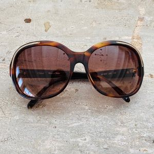♥️ Chloe ♥️ Tortoise Chain Sunglasses